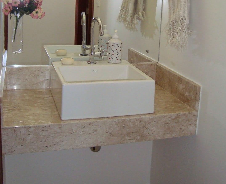 Lavatório no Mármore Travertino Acabamento em 45º. #664C3C 1075x876 Banheiro Com Granito Travertino