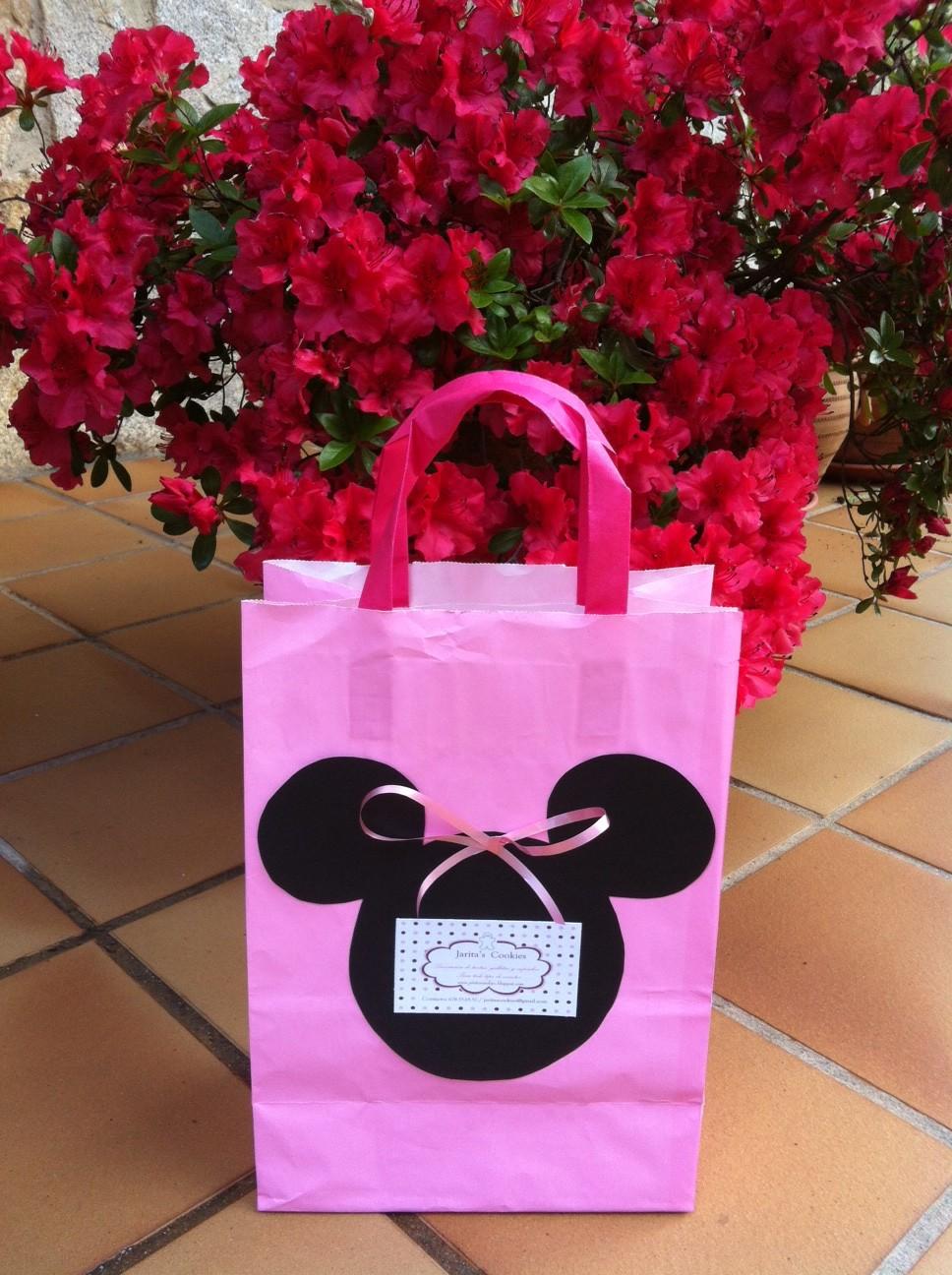 Jarita 39 s cookies tutorial bolsa minnie mouse - Como decorar bolsas de papel ...