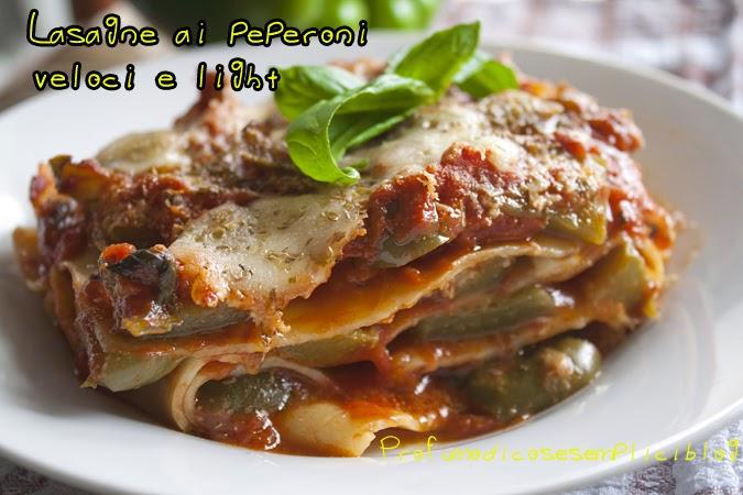 lasagne ai peperoni, veloci e light