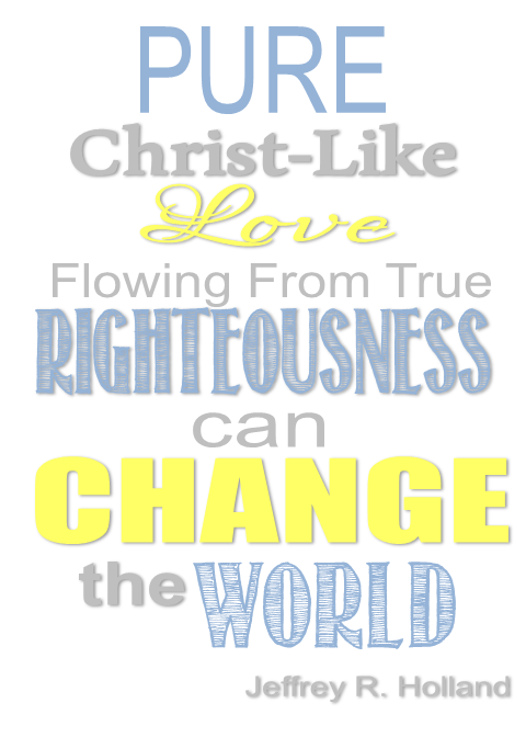 Pure Christ-like love flowing from true righteousness can change the world