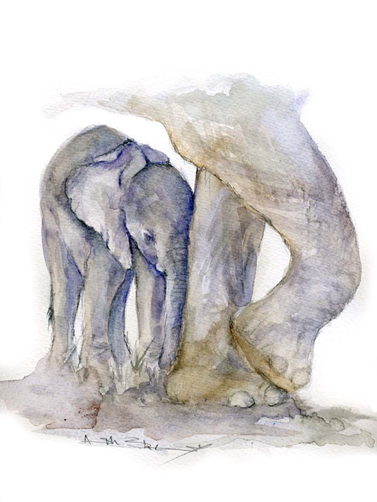 Safari Fusion blog | Elephant Watercolours by Angela Sheldrick | Beautiful original artworks from Kenya