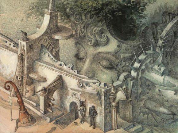 gil bruvel pinturas surreais