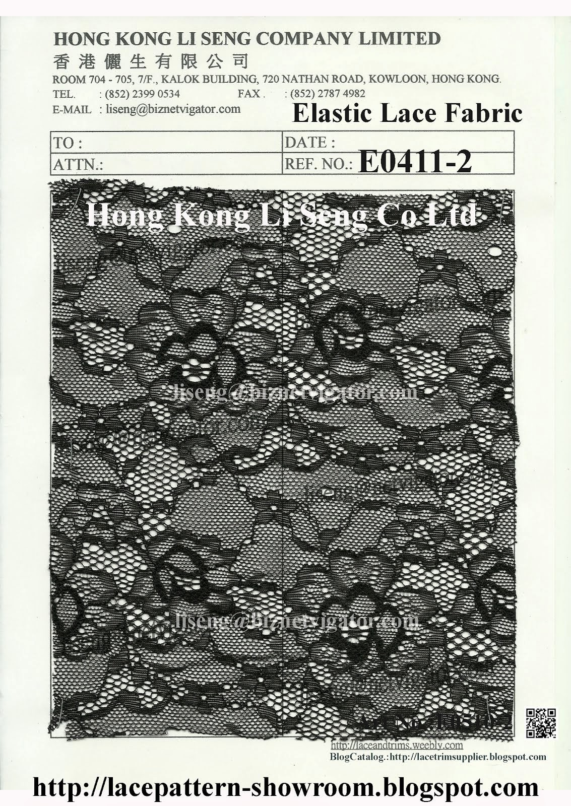 Elastic Lace Fabric Manufacturer Wholesaler and Supplier - Hong Kong Li Seng Co Ltd