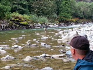 beim steelhead fischen