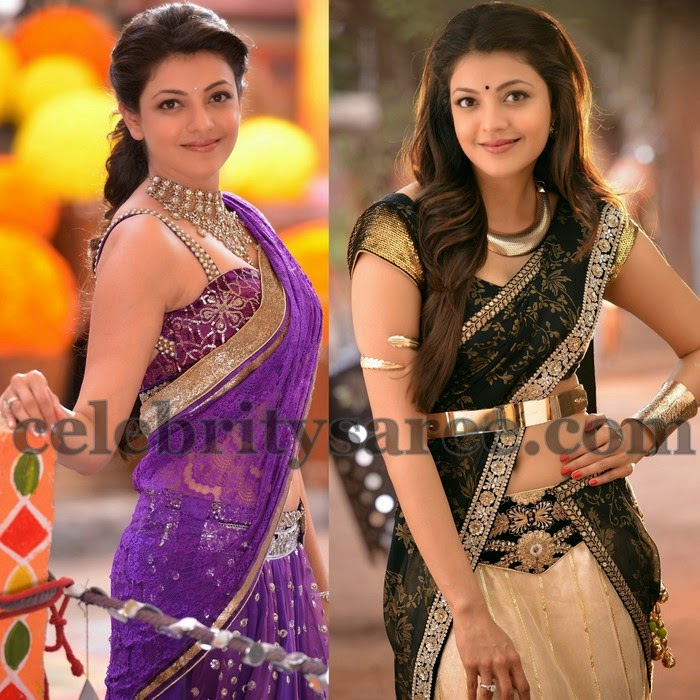 Kajal Latest Half Sarees