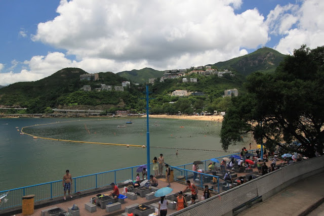 Different view of barbeque (BBQ) pits at Stanley beach, Hong Kong