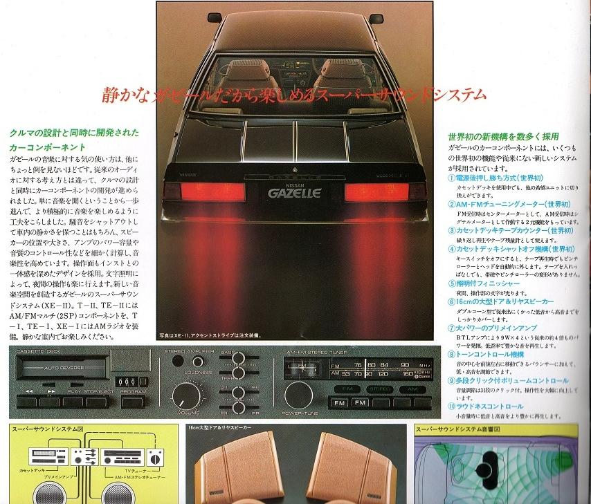 Nissan Silvia, Gazelle, 200SX, S110, JDM, equipment, wyposażenie, japoński sportowy samochód, zdjęcia, fotki, 日本車, スポーツカー, 日産, シルビア, ガゼール