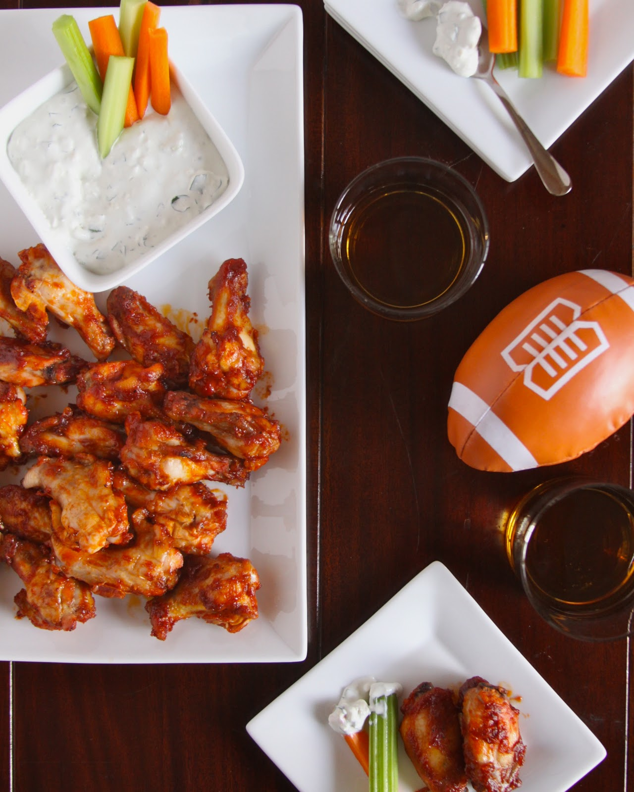 foodie fridays: bourbon wings with blue cheese sauce - Climbing Grier ...