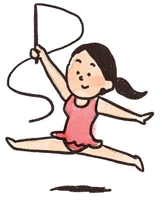 新体操の選手のイラスト(スポーツ)