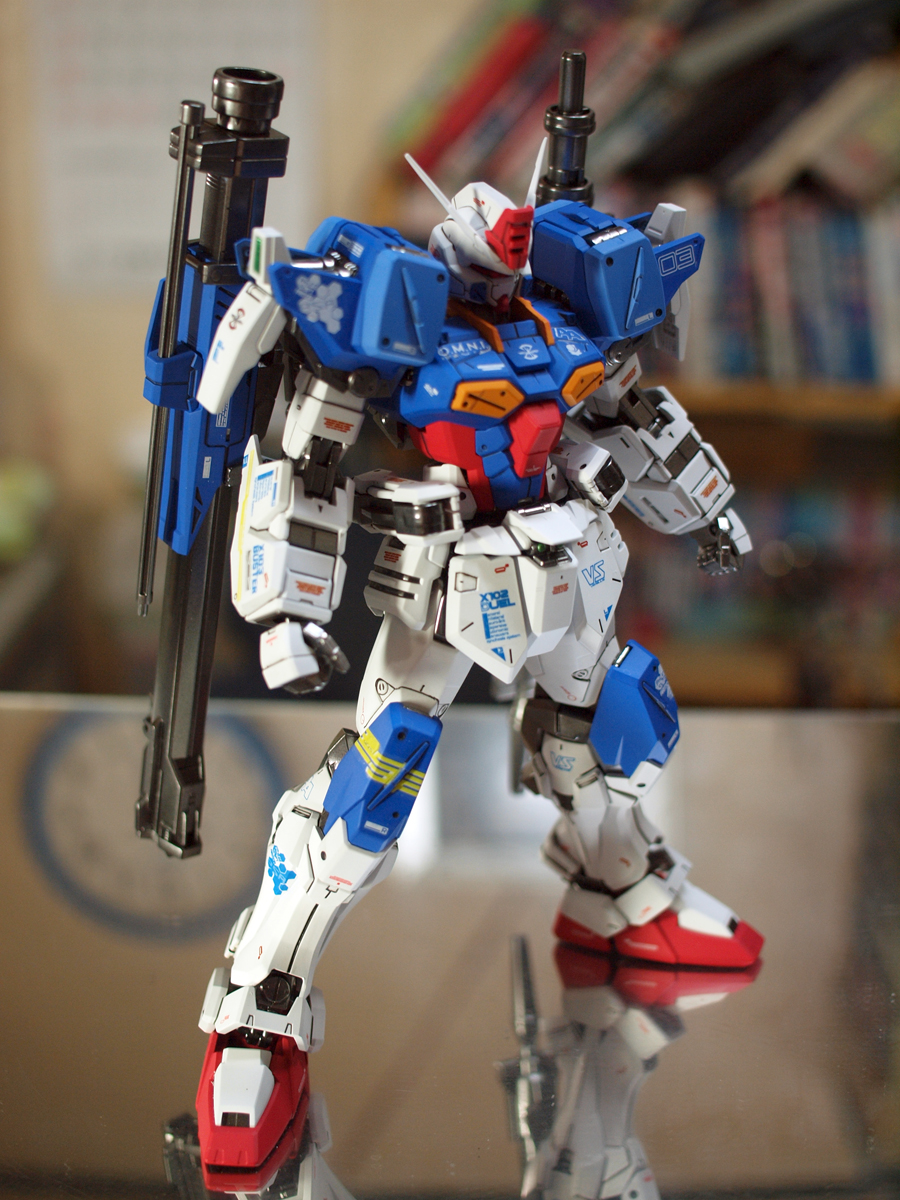 Gundam guy mg 1 100 buster gundam painted build for Virtual suit builder