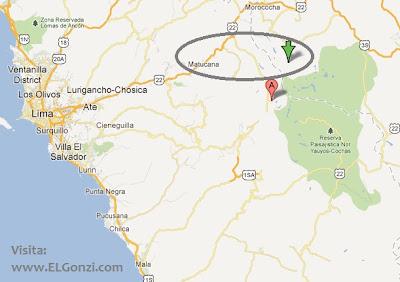 mapa epicentro temblor en lima hoy noche matucana chosica 27 setiembre 2012