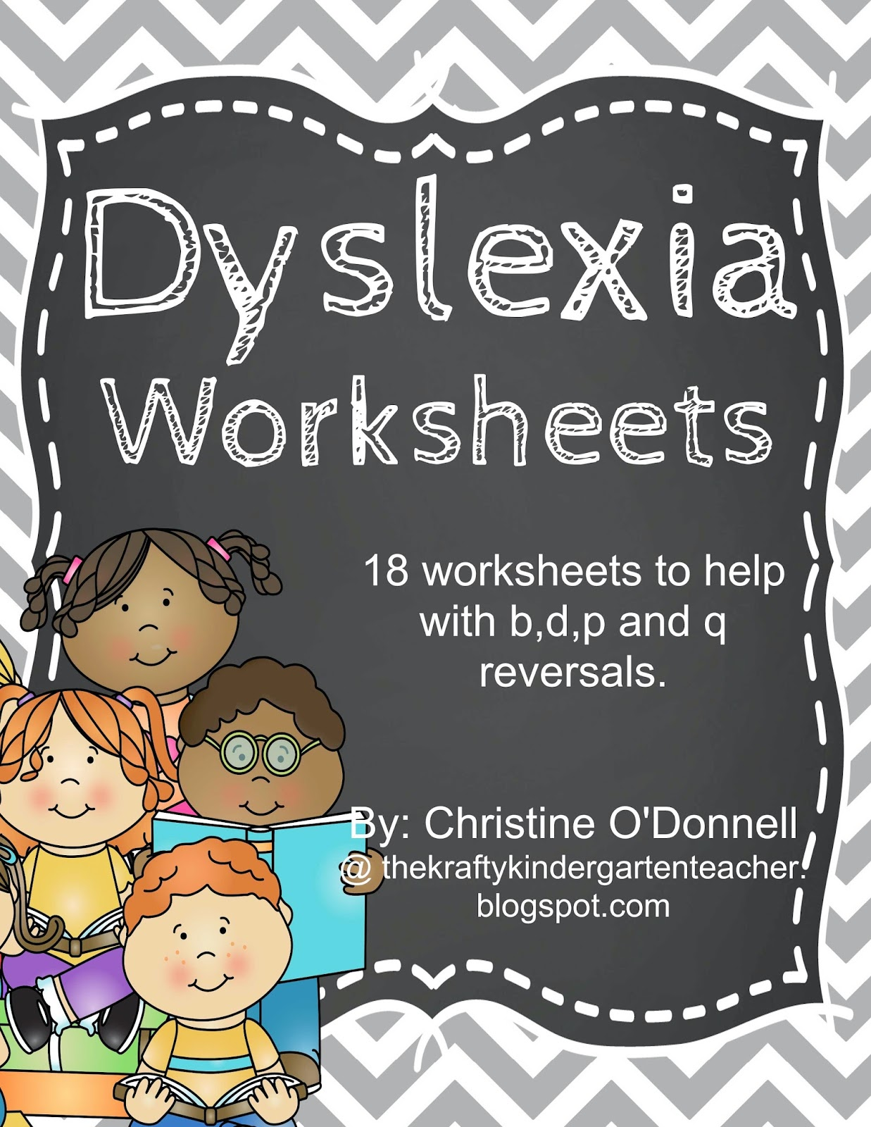 Dyslexia Worksheets-Help with common reversals b,d,p and q!