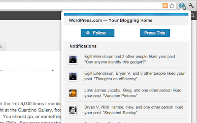 you can follow a WordPress.com site