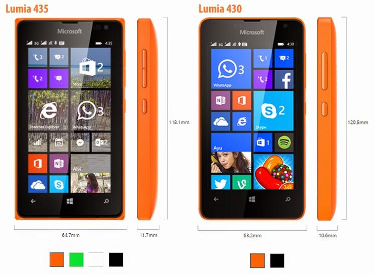 Lumia 435 Dual Sim vs Lumia 430 Dual Sim
