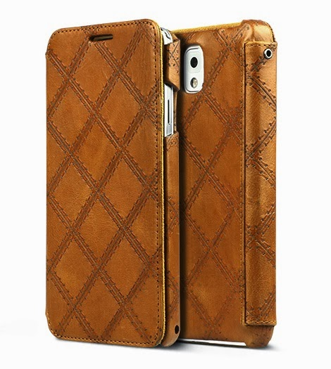 Italian Vintage Quilt Diary Case Samsung Galaxy Note 3 Leather Diary Cases