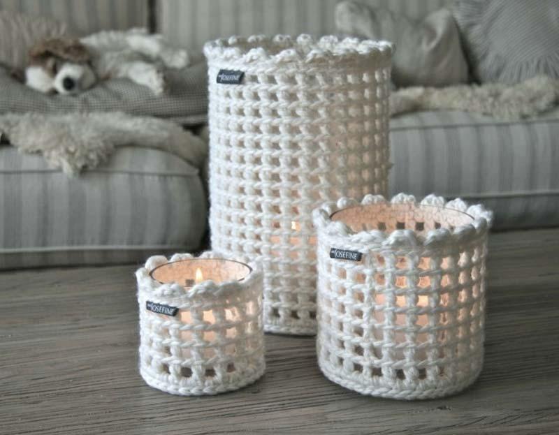 Crochet Jar Covers 4U hilariafina http://www.pinterest.com ...