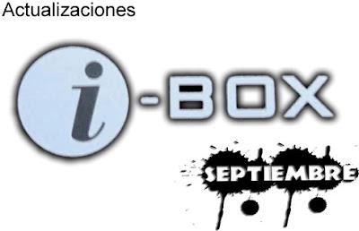 Actualizaciones Ibox 1 Septiembre 2013