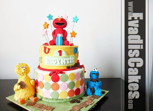 Full view picture of Sesame Street Elmo Theme cake