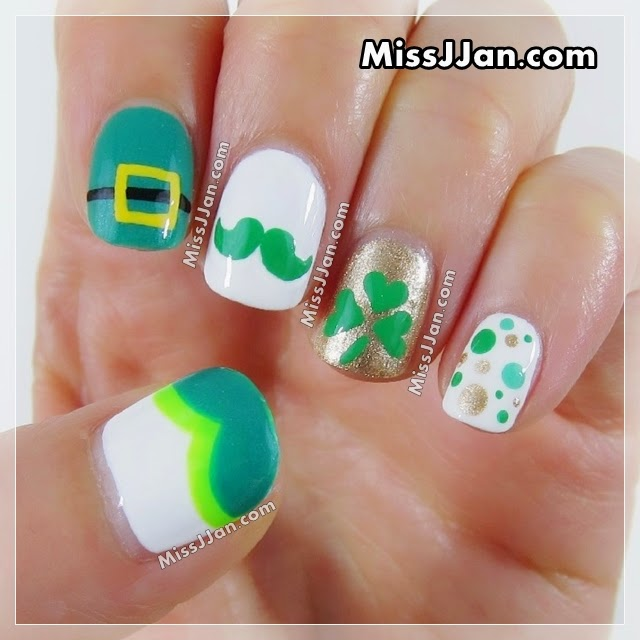Missjjans Beauty Blog Tutorial St Patricks Day Nail Art