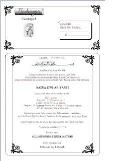 Untuk Undangan Tasmiyah Akhirnya Jadi Deh Disini Download