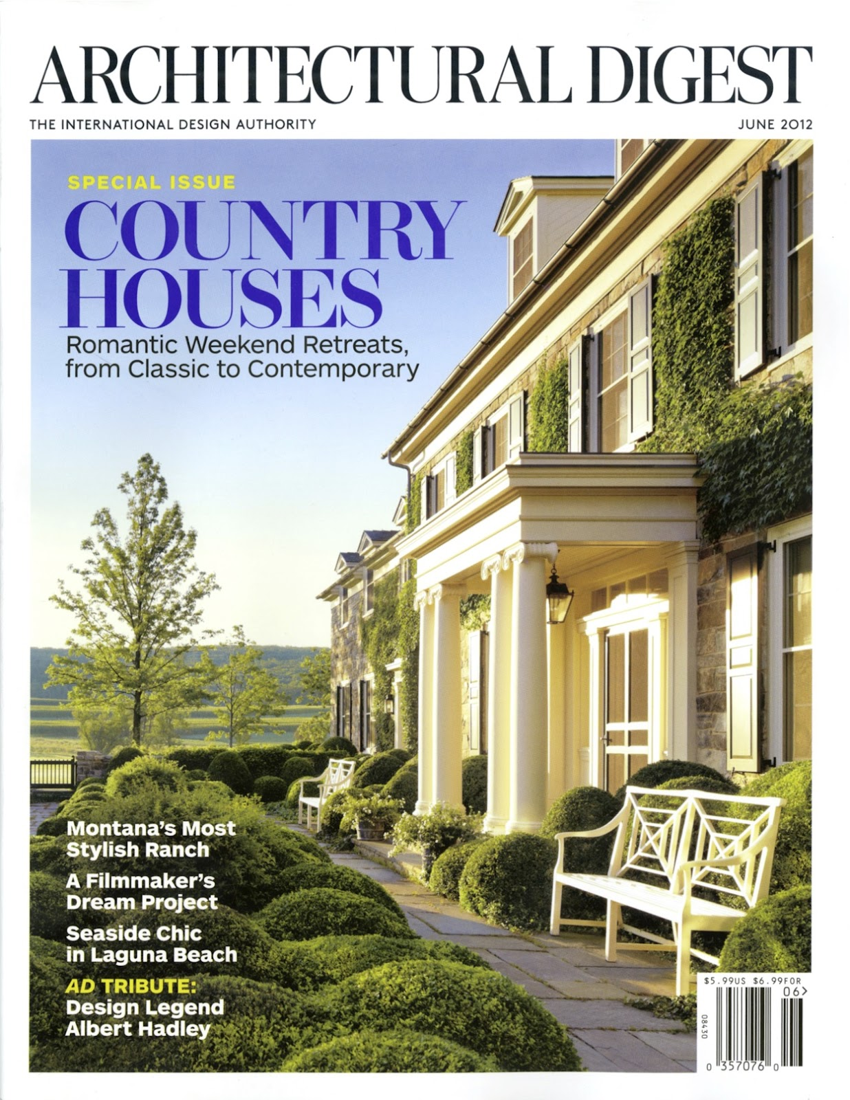 Atelier co architectural digest june 2012 featuring ravenwood for Free architectural magazines