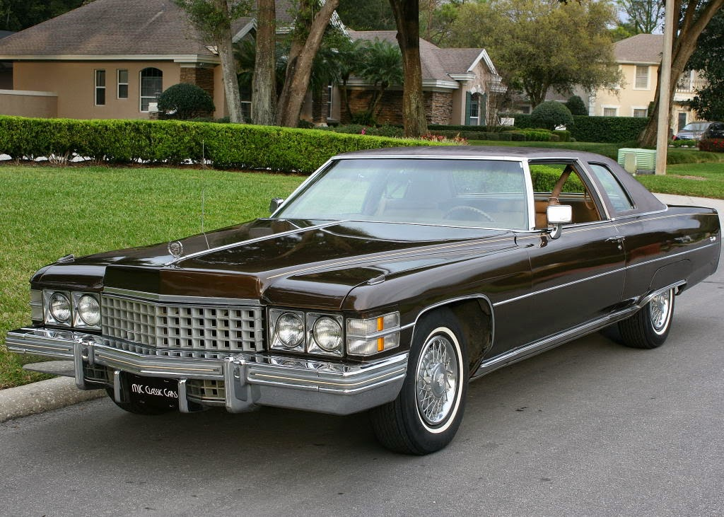 all american classic cars 1974 cadillac coupe de ville 2 door hardtop. Black Bedroom Furniture Sets. Home Design Ideas