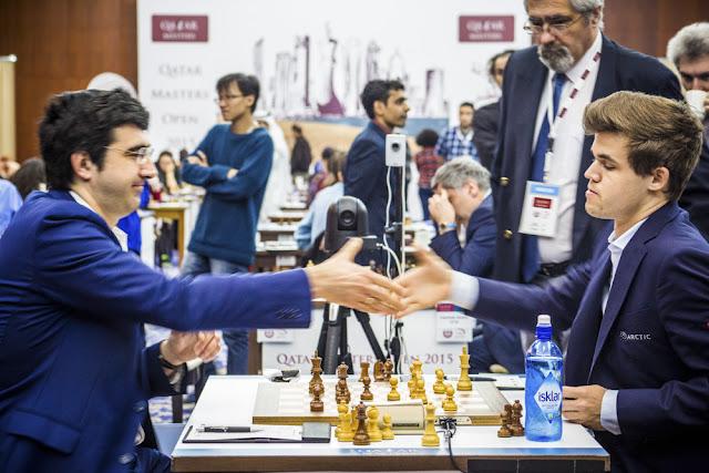 Carslen y Kramnik firmaron unas tablas rápidas en la última ronda