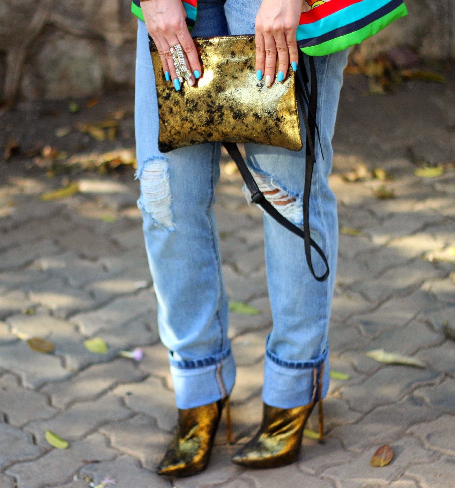 Vero Moda Gold Sling Bag, Gold River Island Ankle Boots