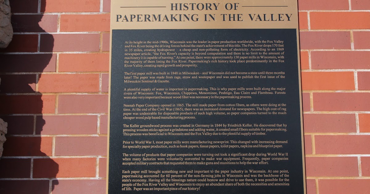 Wisconsin Historical Markers: History of Papermaking in the Valley