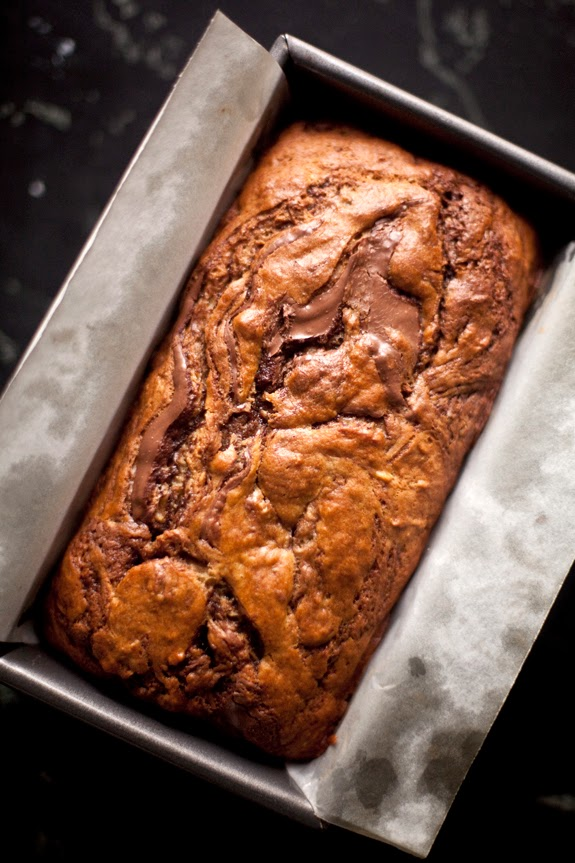 CUP OF JO: Nutella Swirled Banana Bread