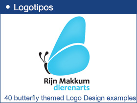 40 Creative butterfly themed Logo Design examples for Inspiration