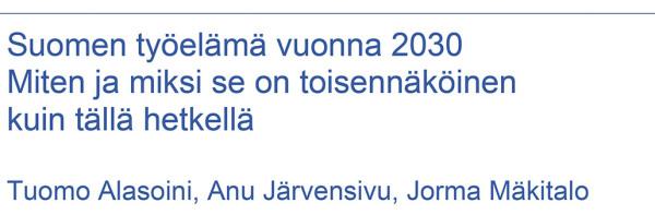 Suomen työelämä vuonna 2030