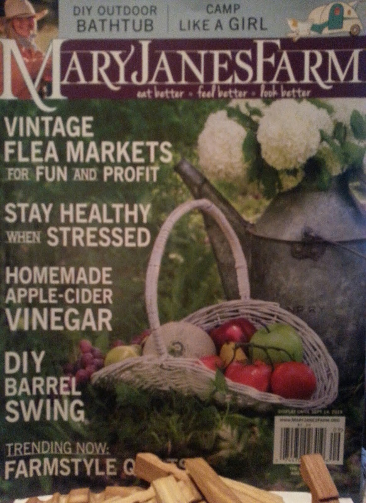We were written about in the Aug/Sept issue of Mary Jane's Farm Magazine