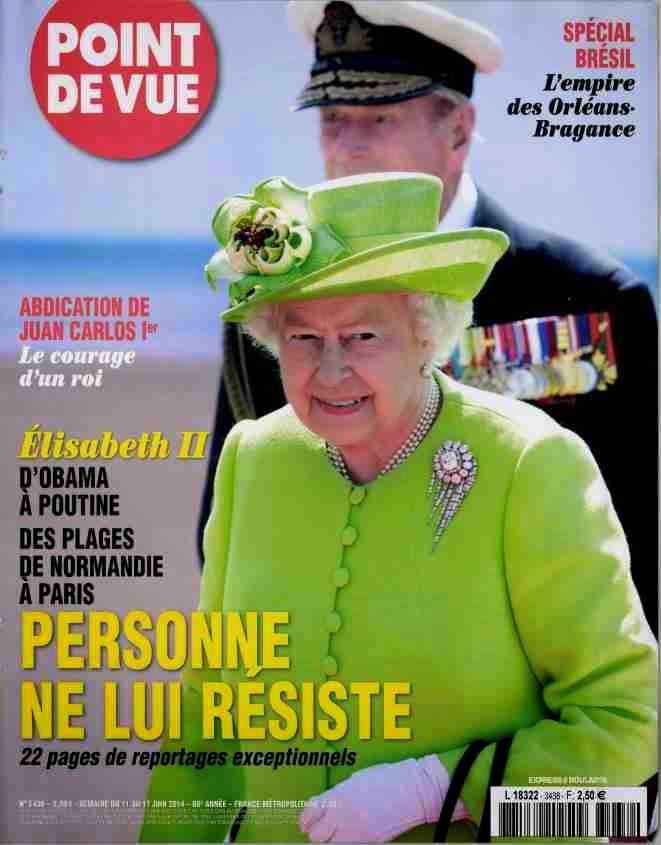 Elizabeth II en France 2014