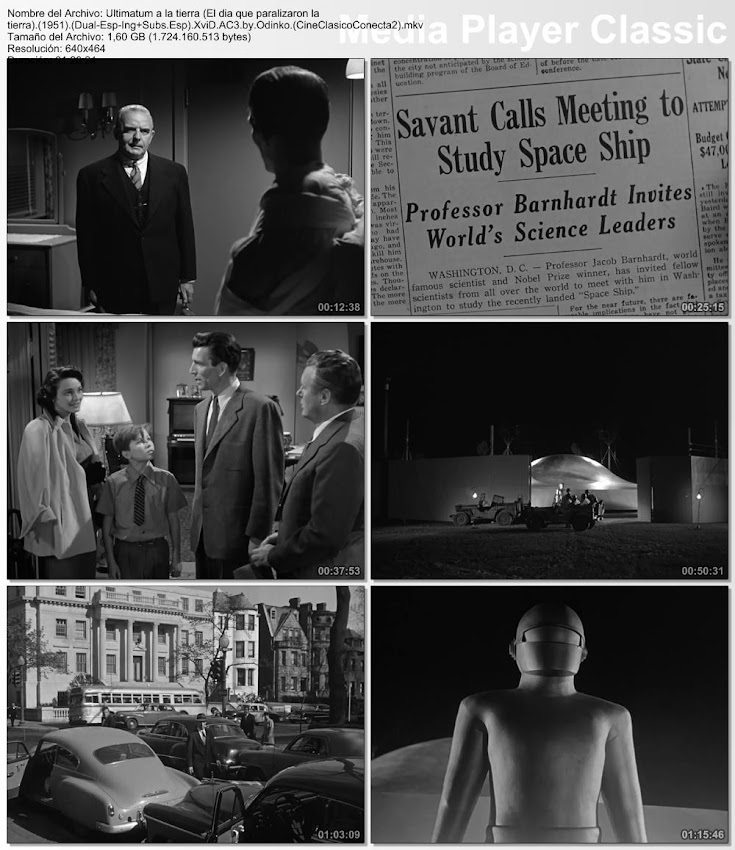 Secuencias de la película: Ultimatum a la tierra (El dia que paralizaron la tierra) | 1951 | The Day the Earth Stood Still
