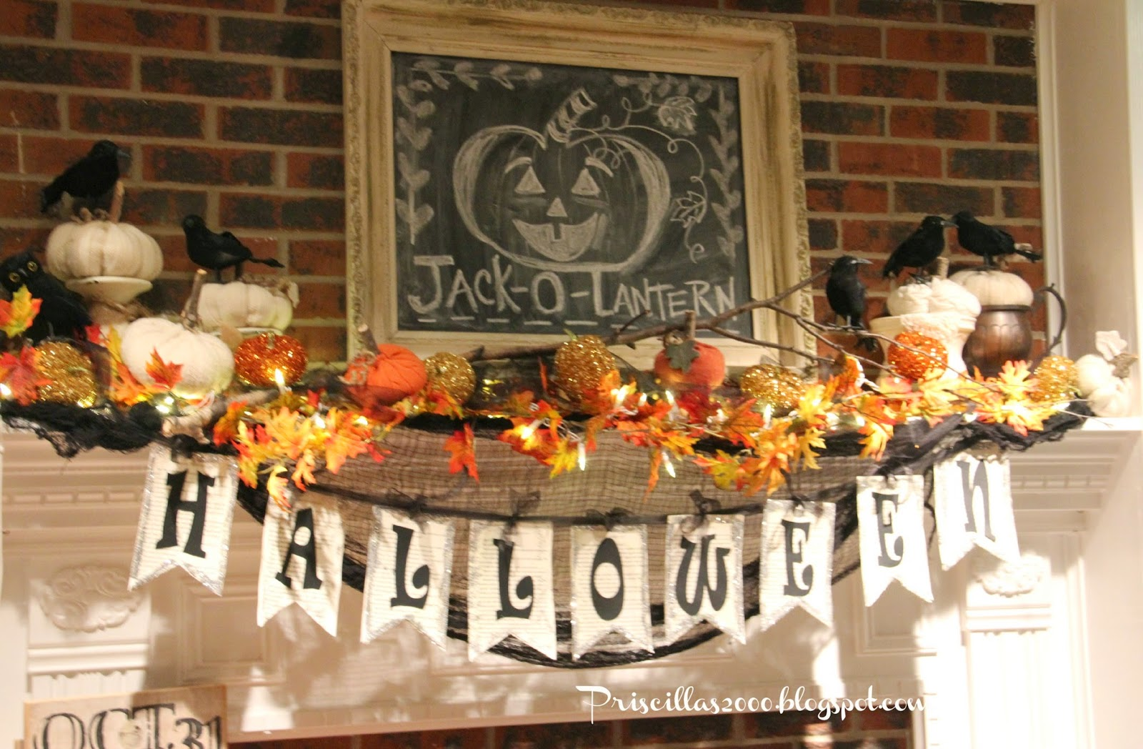 Halloween Mantel- Priscillas- Treasure Hunt Thursday -From My Front Porch To Yours