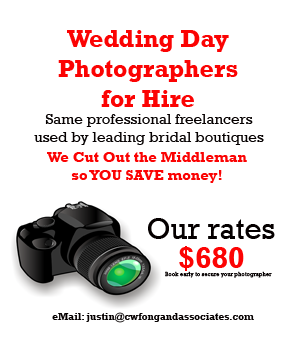 deals on Singapore wedding day photography packages
