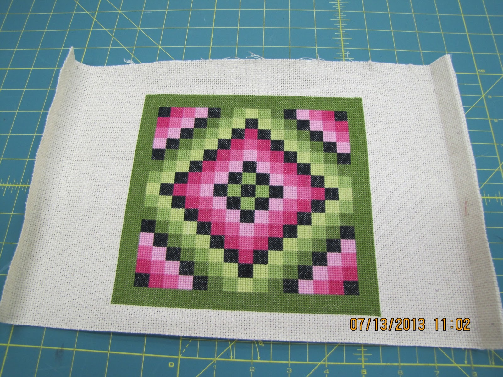 P-Dub s Quilt Stuff : Melba s counted cross stitch