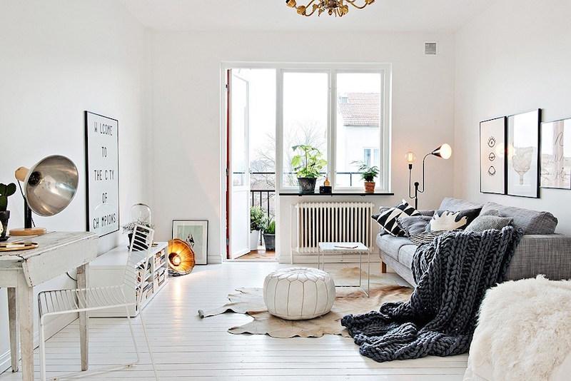 Cocina blanca y gris decorar tu casa es - Casas decoradas en blanco ...