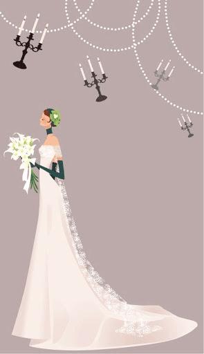 Novia con vestido de encaje