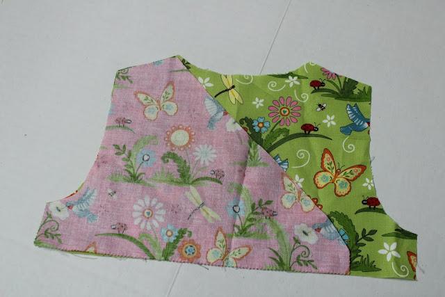 sew the shoulder seams together
