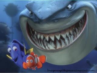 Nemo con dory huyendo de bruce el tiburon Dibujos de nemo para imprimir