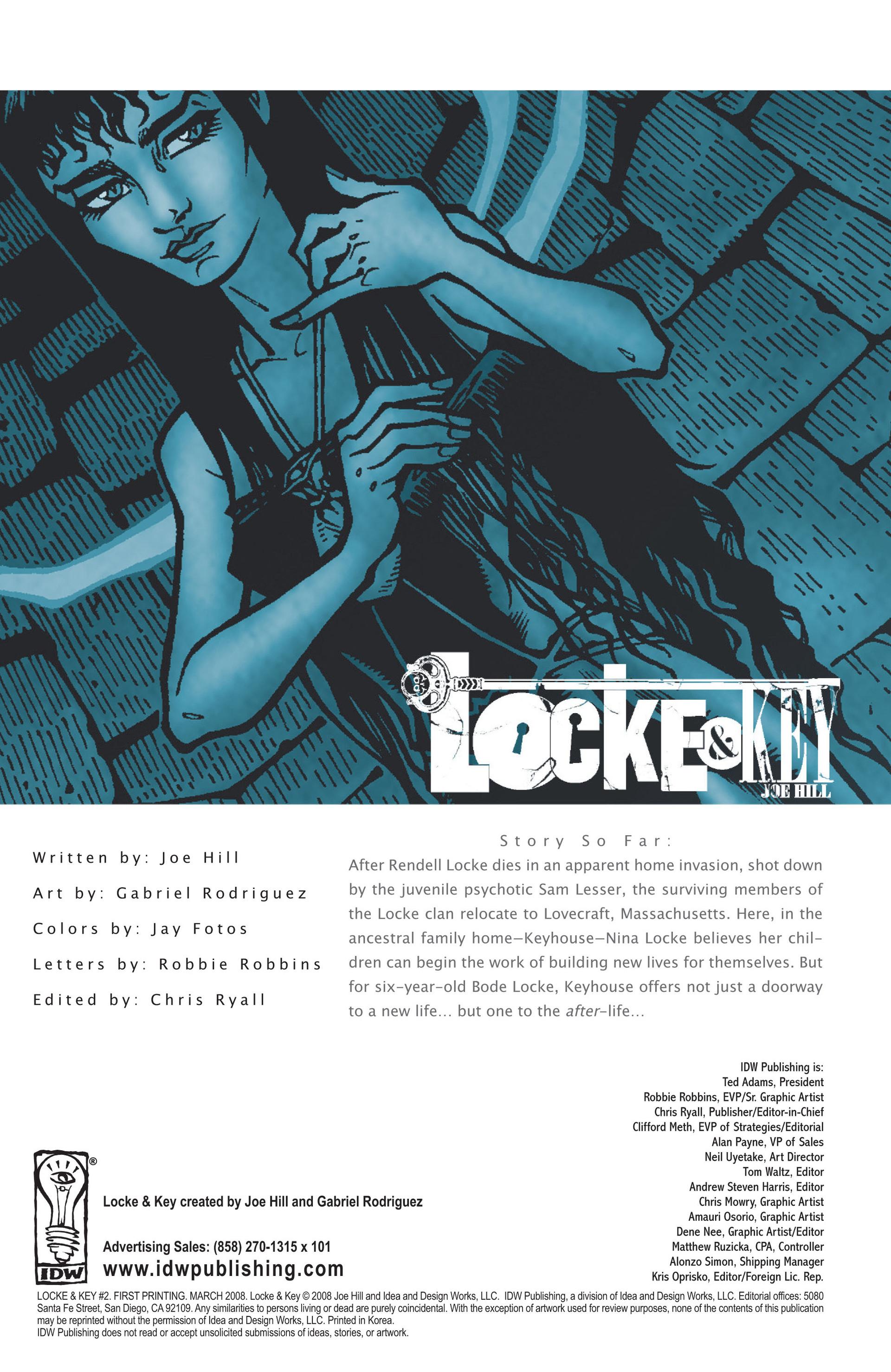 Locke & Key (2008) Issue #2 #2 - English 3