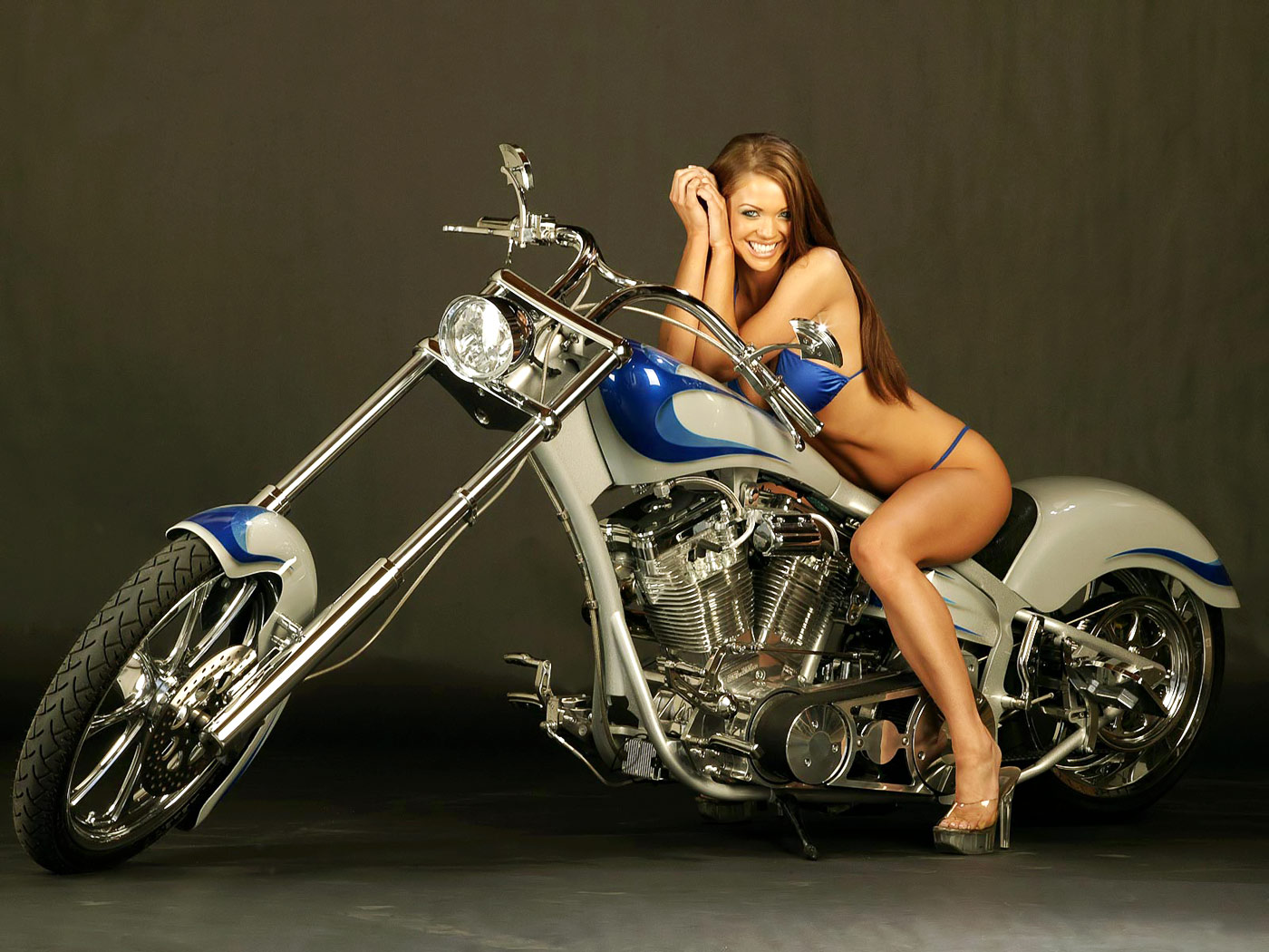 Touching words Custom chopper motorcycles and girls