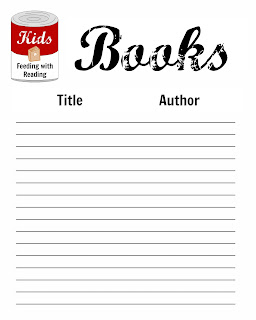 keep track of the books you read for charity with printable
