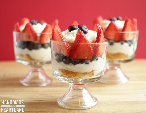 Strawberry, Blueberry & Cream Trifle