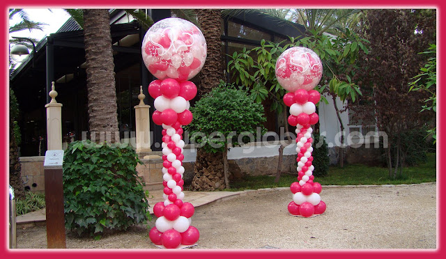 Globos con efectos especiales para bodas decoraci n con - Arreglos con globos para boda ...