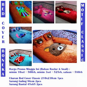 [NEW] PUSAT GROSIR BED COVER RASFUR & SNAIL ANEKA MOTIF