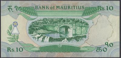 Mauritius 10 Rupees 1985 P# 35b