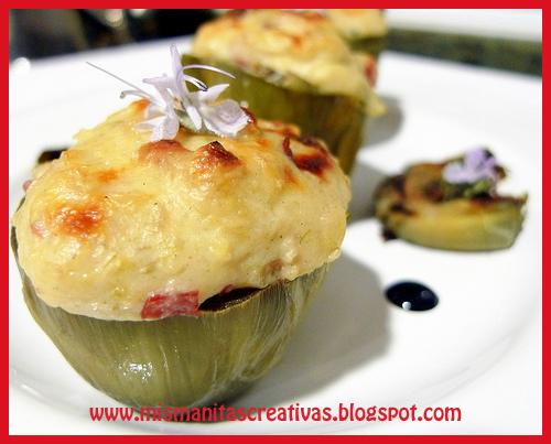 Receta como hacer alcachofas rellenas de carne mis - Como hacer alcachofas en salsa ...
